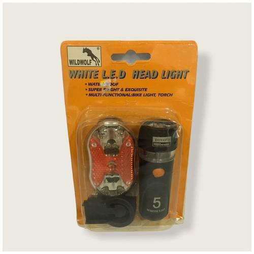 Lampu sepeda Led WILDWOLF YT-m09-31 - Black
