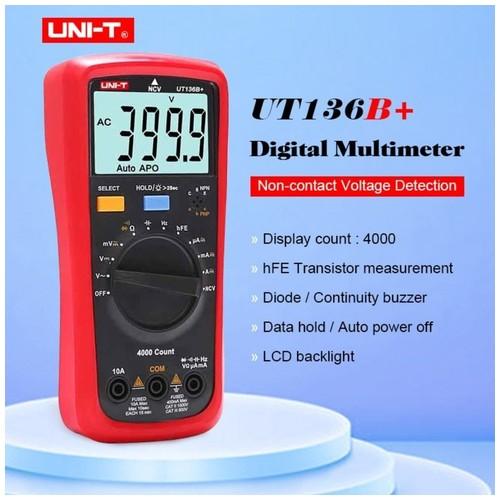 UNI-T UT136B PLUS - Auto Range Multimeter Multitester LCD Display
