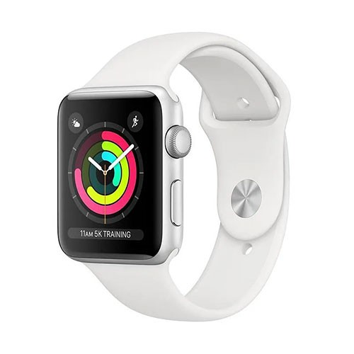 Apple Watch Series 3 42mm GPS - Silver with White Sport Band