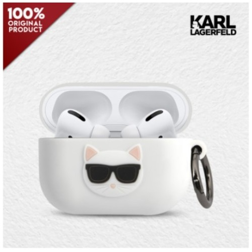 Case Airpods Pro Karl Lagerfeld Choupette Silicone - White
