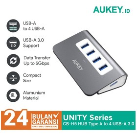 Aukey HUB Aluminium 4 Ports