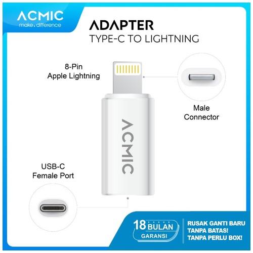 ACMIC USB-C to Lightning Adapter iPhone Converter Connector / Konektor