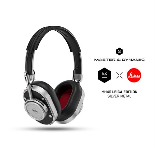 Master & Dynamic Over-Ear Wireless Headphones MH40 Leica Edition - Silver Metal / Black Leather
