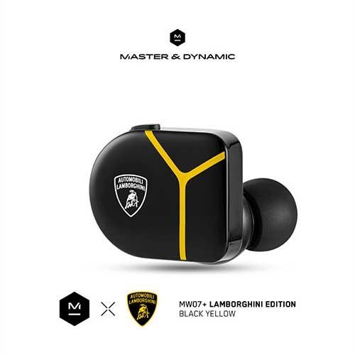 Master & Dynamic ANC True Wireless Earphones MW07 Plus Lamborghini Edition - Black Yellow