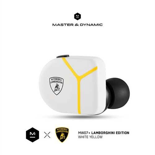 Master & Dynamic ANC True Wireless Earphones MW07 Plus Lamborghini Edition - White Yellow