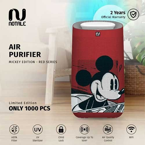 Notale Air Purifier Disney Mickey Edition With HEPA H13 UV Sterilizer - Red Disney