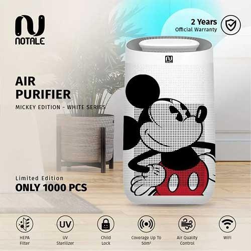 Notale Air Purifier Disney Mickey Edition With HEPA H13 UV Sterilizer - White Disney