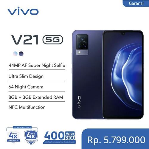 Vivo V21 5G 8GB (+3GB Extended)/128GB - Dusk Blue
