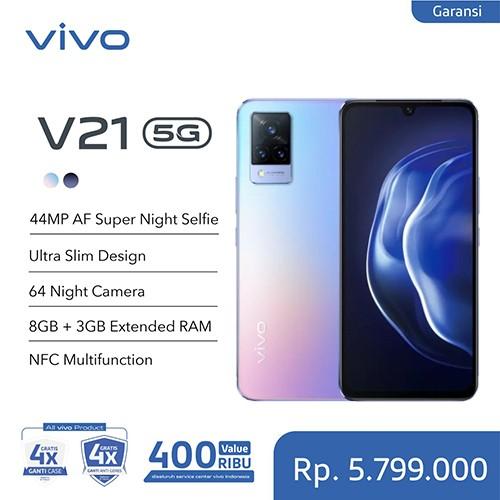 Vivo V21 5G 8GB (+3GB Extended)/128GB - Sunset Dazzle
