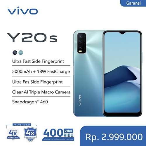 Vivo Y20s (RAM 8GB/128GB) - Purist Blue