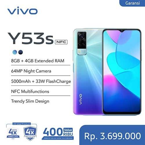 Vivo Y53s (RAM 8GB +3GB Extended/128GB) - Fantastic Rainbow