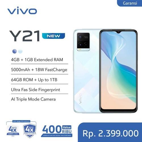 Vivo Y21 (RAM 4GB +1GB Extended/64GB) - Diamond Glow