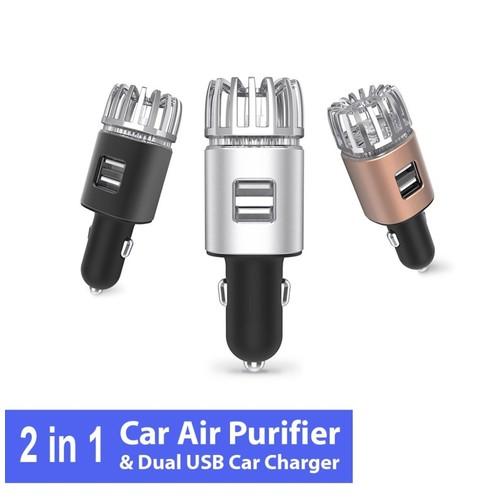 ionkini Car Air Purifier 2in1 JO-6291 Pembersih Udara USB Charge