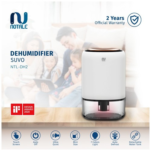 Notale Dehumidifier Suvo Air Dryer Serap kelembapan Humidifier Smart Touch