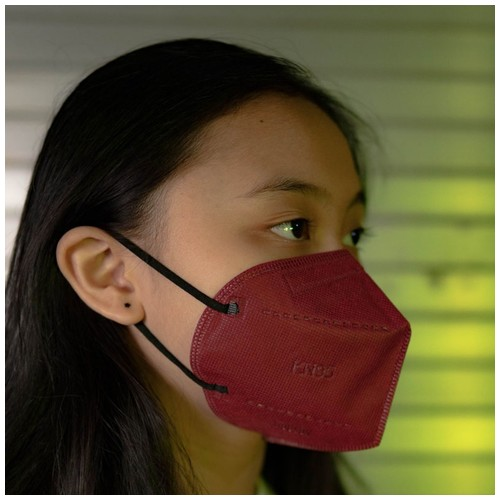 Masker MOUSON KN 95 Protective Mask isi 10 pcs MAROON