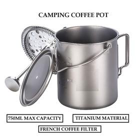 Titanium Camping Coffee Pot
