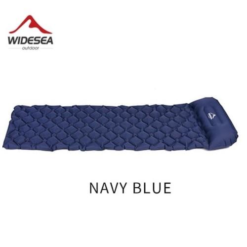 WIDESEA WSCM-001 - Inflatable Sleeping Pad - Kasur Angin Tahan Air Navy Blue