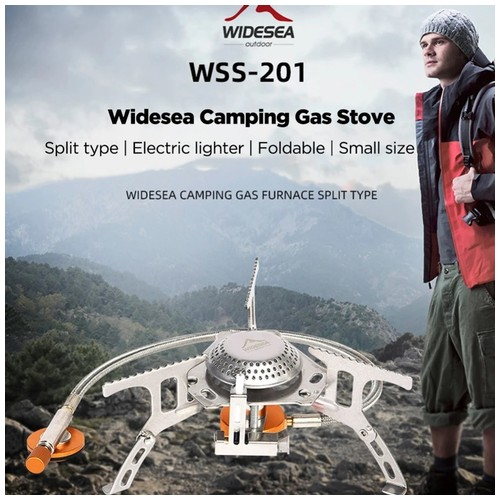 WIDESEA WSS-201 Camping Gas Stove Split Type - Kompor Camping Portabel