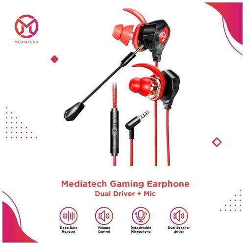 Mediatech Earphone Gaming Dual Driver + Mic MGE - 01
