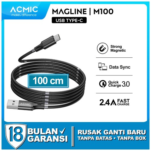 ACMIC MAGLINE M100 Magnetic Kabel Data Charger Fast Charging Magnet