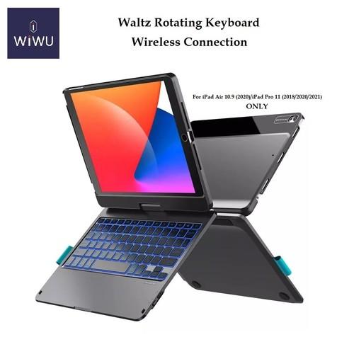 WIWU Waltz Rotating Keyboard with Touchpad - iPad Air 10.9 - Pro 11