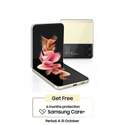 Samsung Galaxy Z Flip3 (RAM 8GB/256GB) - Cream