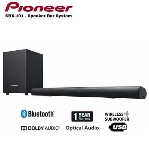 Pioneer Soundbar With Wireless Subwoofer SBX-101