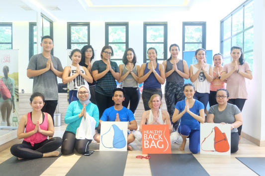 860d74baa HEALTHY BACK BAG STRETCHES OUT TO INDONESIA THROUGH A YOGA TREAT