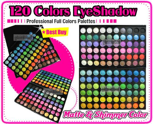 Jual 120 EYESHADOW EYE SHADOW MAKEUP PALETTE KIT