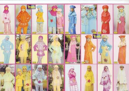 Jual perlengkapan busana muslim anak-anak dan dewasa