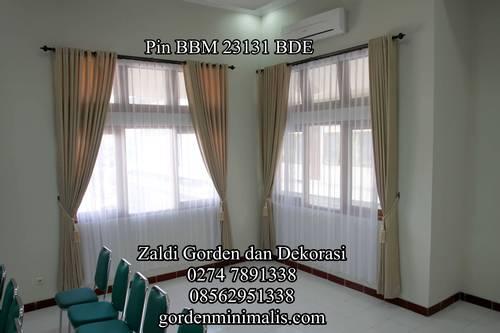 Jual model gorden jendela kantor gorden murah