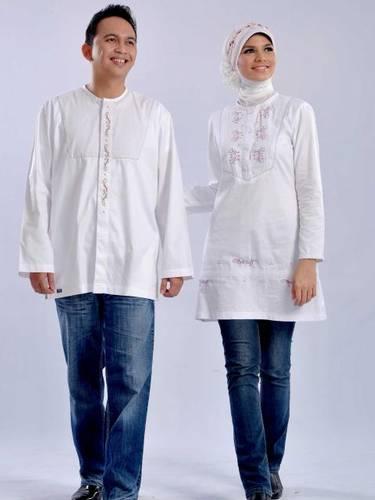 Dinomarket Pasardino Baju Muslim Blus Warna Putih