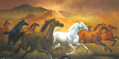 Jual LUKISAN KUDA ISTIMEWA | KOLEKSI SENI BERKELAS