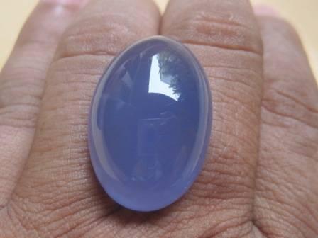 Jual BATU PERMATA AKIK SPRITUS ( BLUE CHALCEDONY). 73 (TERJUAL)