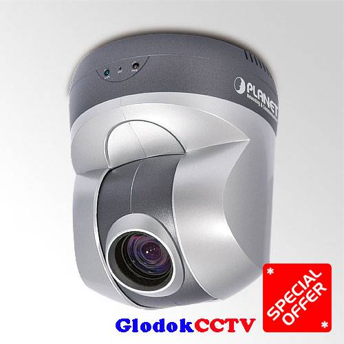 Jual PLANET ICA-H610 is a indoor 10x PTZ dome IP Camera