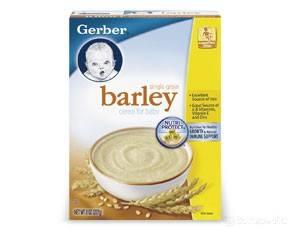 Barley cereal gerber