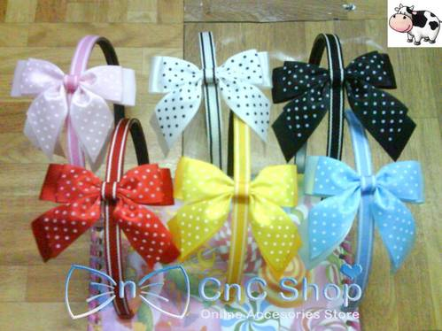 Direct Link for Product Jual Ribbon pita polkadot susun dua :