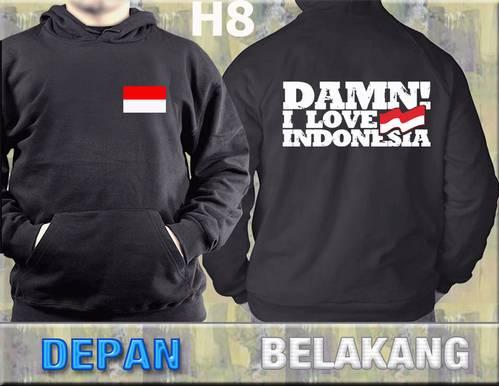 Jual Jaket HOODIE I Love Indonesia - H8