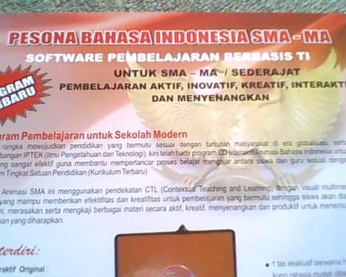 Jual CD PEMBELAJARAN BAHASA INDONESIA SMA