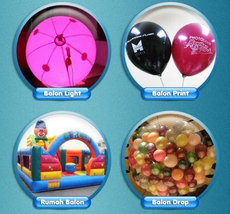 balon yang digunakan untuk promosi produk maupun balon yang digunakan ...