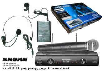 Jual Microphone Wireless SHURE UT42ii/SM58 (HAND + CLIP ON / HEADSET ...