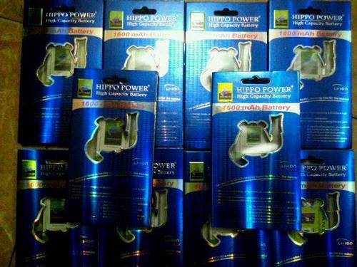 Jual batere bb double power  /high capacity HIPPO / High End
