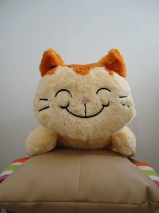 Boneka kucing jumbo ala Alice in Wonderland ^^
