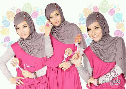 Jual NU HIJAB PLAIN DRESS