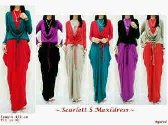 Direct Link for Product Jual baju muslim modern maxi scarlett 5 + obi