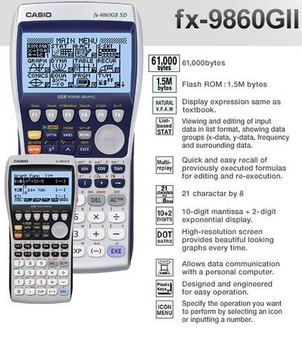 Jual Graphic Scientific Calculator fx-9860GII SD Harga Anak Kampus