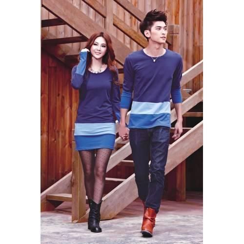 Jual baju couple KOREA Kombinasi salur