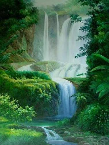 Jual Lukisan Pemandangan Alam, kualitas tinggi dan berkelas