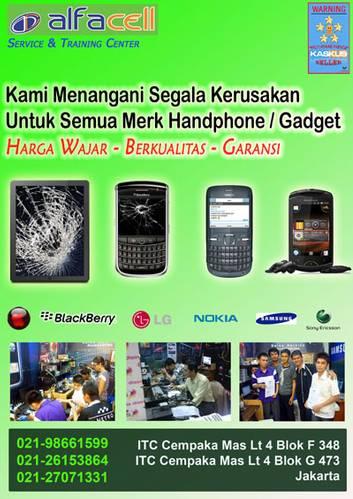 Jual Servis BB Jakarta Blackberry-Nokia-Semua Merk, Jakarta, ITC Cempaka Mas dan...
