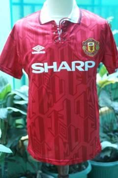 ready stock] jersey/kaos bola MANCHESTER UNITED HOME retro '92